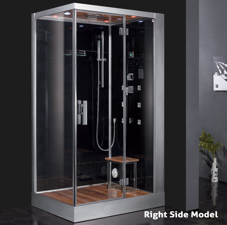 Only ariel platinum right steam shower with steam for Build steam shower